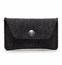 Graf Lantz Felt Card Case Charcoal