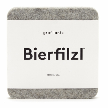 Graf Lantz Square Felt Coasters Set of 4 Granite