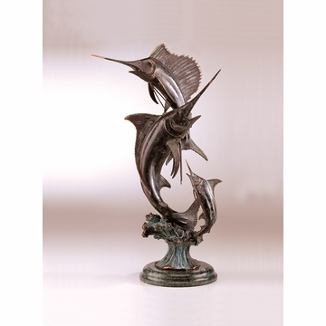 Grand Slam Marlin & Sailfish Sculpture by SPI Home