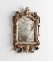 Guinevere Silver Wood Mirror by Cyan Design