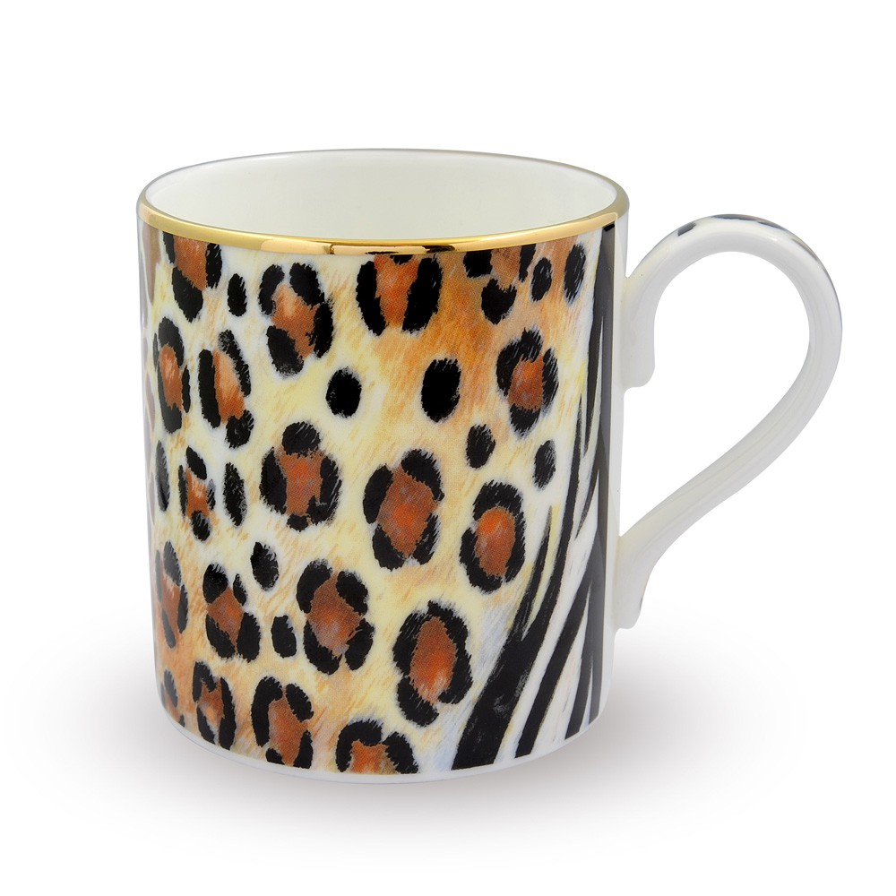 Product - 3dRose Personalized initial O monogrammed hot pink and black leopard pattern animal print - personal letter - Ceramic Mug, ounce. Product Image. Price $ Was $