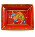 Halcyon Days Ceremonial Indian Elephant Red Elephant Trinket Tray