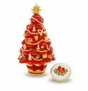 Halcyon Days Christmas Tree Red Porcelain Box