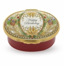 Halcyon Days Happy Birthday Musical Box Enameled Box