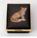 Halcyon Days Leopard Portrait Keepsake Box