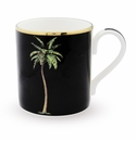 Halcyon Days Palm Black Mug