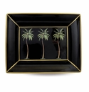Halcyon Days Palm on Black Trinket Tray