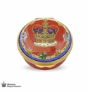 Halcyon Days St Edwards Crown Enameled Box