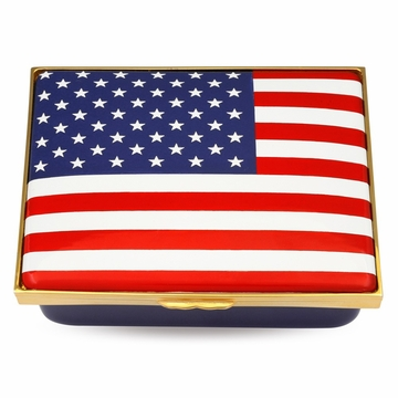 Halcyon Days The Stars and Stripes Enameled Box