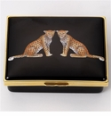 Halcyon Days Twin Leopards Keepsake Box