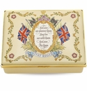 Halcyon Days Vivat Regina Cream Enameled Box
