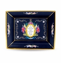 Halcyon Days Vivat Regina Trinket Tray Blue