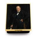 Halcyon Days Winston Churchill William Orpen Enameled Box