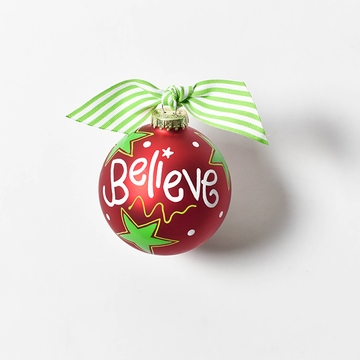 Happy Everything Glass Ornament - Believe Christmas