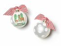 Happy Everything Christmas Wishes Snow Globe Ornament