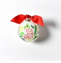 Happy Everything Glass Ornament - Deck the Halls