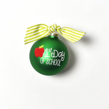 Happy Everything Glass Ornament - First Day of School