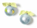 Happy Everything For This Child Blue Ornament