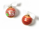 Happy Everything Happy Birthday Jesus Striped Ornament