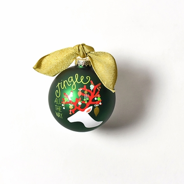 Happy Everything Glass Ornament - Jingle All the Way Reindeer
