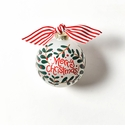 Happy Everything Glass Ornament - Merry Christmas Holly Branch