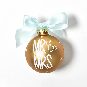 Happy Everything Glass Ornament - Mr & Mrs