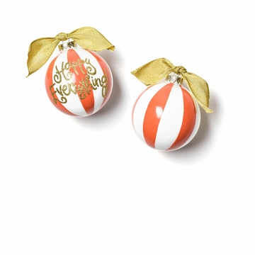 Happy Everything Persimmon Color Block Ornament