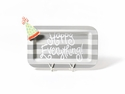 Happy Everything Stone Stripe Mini Rectangle Platter With Pom Hat Attachment