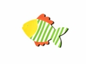 Happy Everything Striped Fish Big Attachment