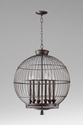 Hendricks Round Bronze Birdcage Pendant Light by Cyan Design