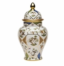 "Herend 150Th Anniversary Rothschild Bird Covered Urn 14.4""H"