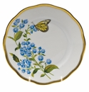 "Herend American Wildflower Bread & Butter Plate  6""D - Blue Wood Aster"