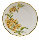 """Herend American Wildflower Bread & Butter Plate  6""""D - Butterfly Weed"""