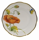 "Herend American Wildflower Bread & Butter Plate  6""D - California Poppy"