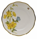 "Herend American Wildflower Bread & Butter Plate  6""D - Evening Primrose"