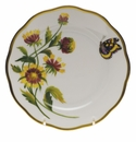 "Herend American Wildflower Bread & Butter Plate  6""D - Indian Blanket Flower"