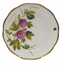 "Herend American Wildflower Bread & Butter Plate  6""D - Passion Flower"