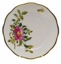 "Herend American Wildflower Bread & Butter Plate  6""D - Prairie Rose"