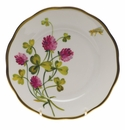 "Herend American Wildflower Bread & Butter Plate  6""D - Red Clover"