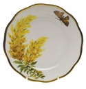 "Herend American Wildflower Bread & Butter Plate  6""D - Tall Goldenrod"