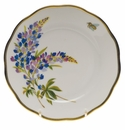 "Herend American Wildflower Bread & Butter Plate  6""D - Texas Bluebonnet"