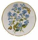"Herend American Wildflower Dinner Plate  10.5""D - Blue Wood Aster"
