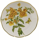 "Herend American Wildflower Dinner Plate  10.5""D - Butterfly Weed"
