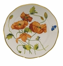 "Herend American Wildflower Dinner Plate  10.5""D - California Poppy"