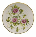 "Herend American Wildflower Dinner Plate  10.5""D - Passion Flower"