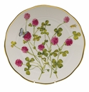 "Herend American Wildflower Dinner Plate  10.5""D - Red Clover"