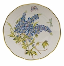 "Herend American Wildflower Dinner Plate  10.5""D - Texas Bluebonnet"