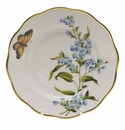 "Herend American Wildflower Salad Plate  7.5""D - Blue Wood Aster"