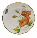 "Herend American Wildflower Salad Plate  7.5""D - California Poppy"