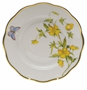 "Herend American Wildflower Salad Plate  7.5""D - Evening Primrose"